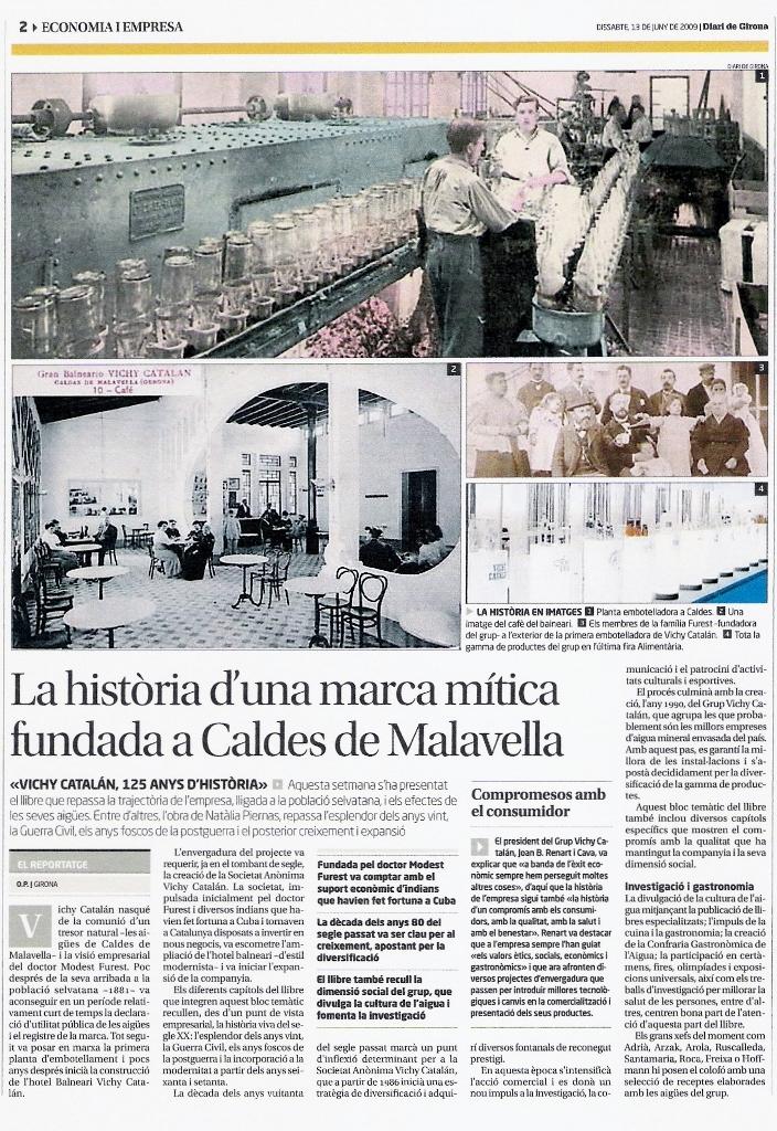 Natalia Piernas historia de empresa 125 aniversario Vichy Catalán Diari de Girona