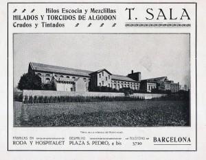 Publicidad de la empresa Tecla Sala en la Barcelona artística e Industrial (1916)