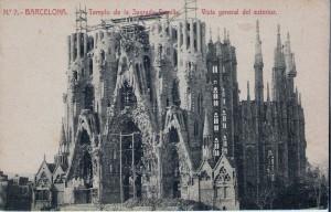 Barcelona. Temple de la Sagrada Família (començat el 1882)