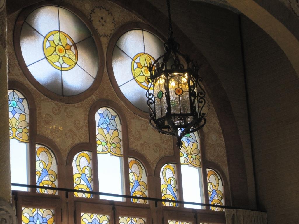Hospital de Sant Pau vidrieras