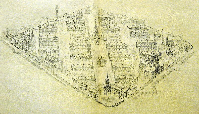 Hospital de Sant Pau proyecto original