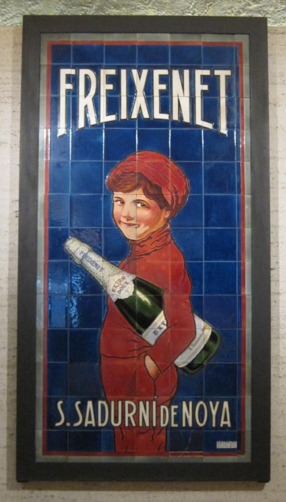 Freixenet publicidad niño botella