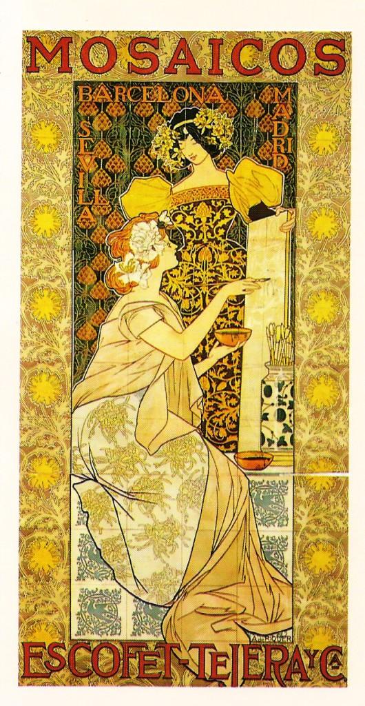 Mosaicos Escofet dibujo Alexandre de Riquer