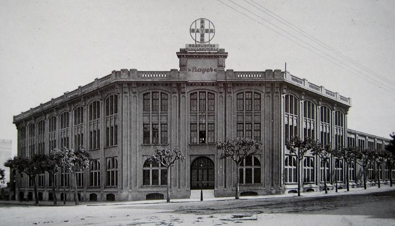 historia de empresa edificio Bayer