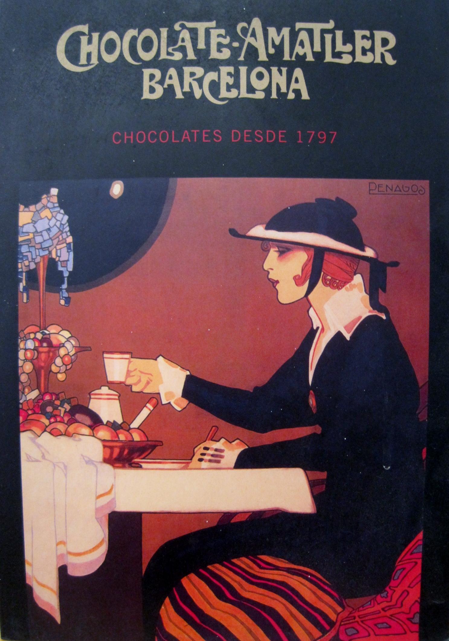 Chocolates Amatller cartel Penagos