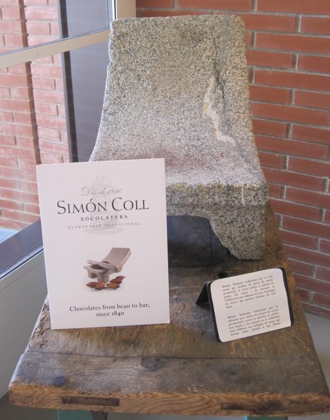 Simón Coll chocolate a la piedra